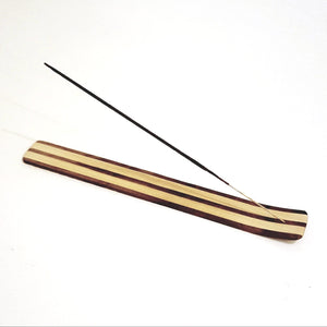 Striped Wood Incense Holder-Aroma-in2ition mercantile