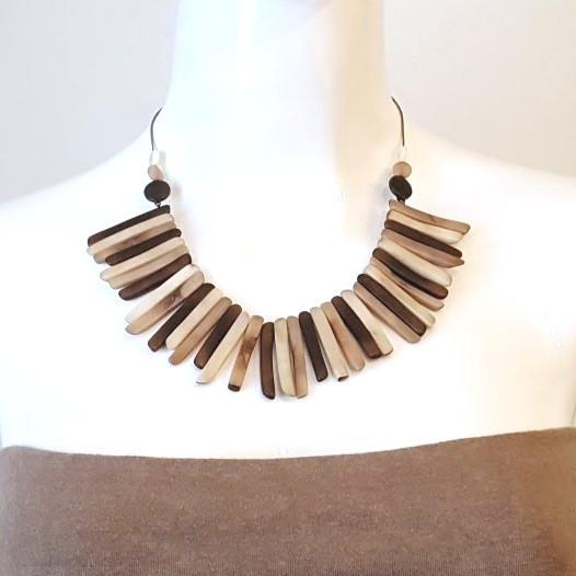 Tagua Twigs Necklace-Jewelry-in2ition mercantile