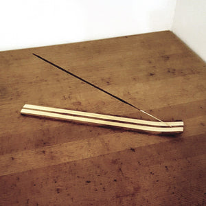 Striped Wood Incense Holder