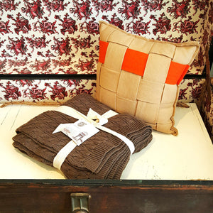 Woven Wool Pillow-Linens-in2ition mercantile