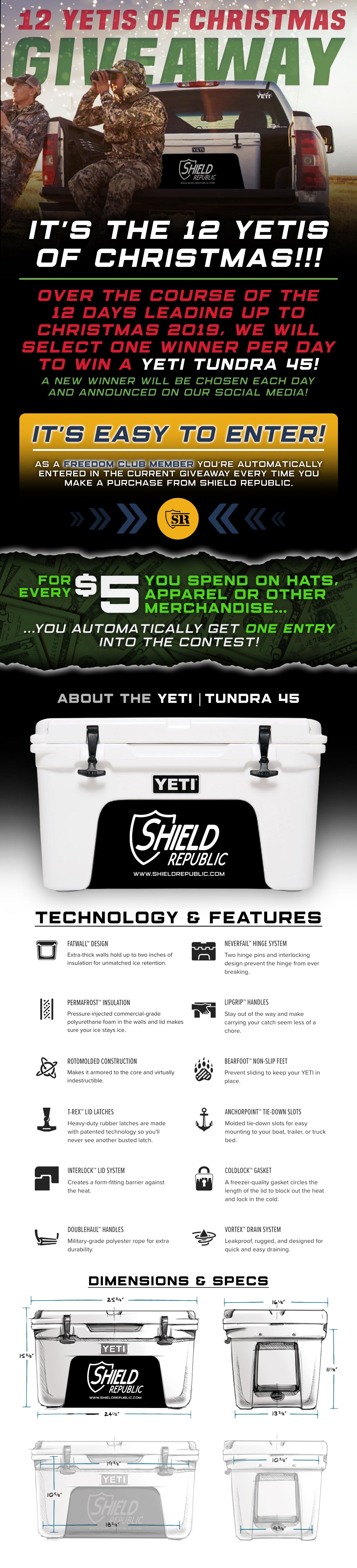 YETI Cooler Christmas Giveaway - Enter to win