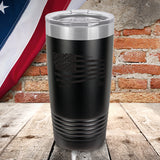 Black Tethered Flag Color Printed Tumbler