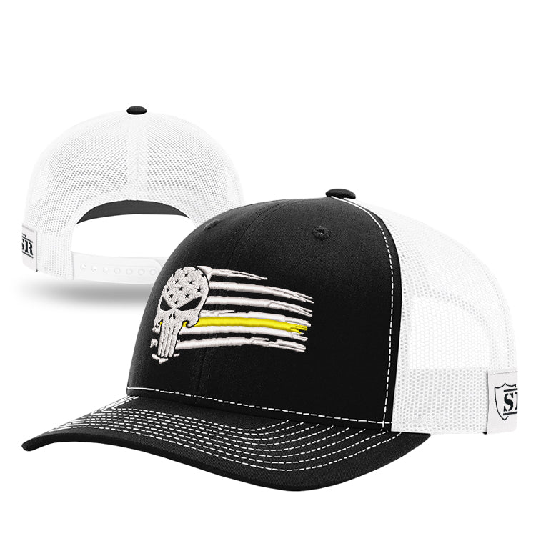 Punisher Yellow Line Tethered Flag Hat