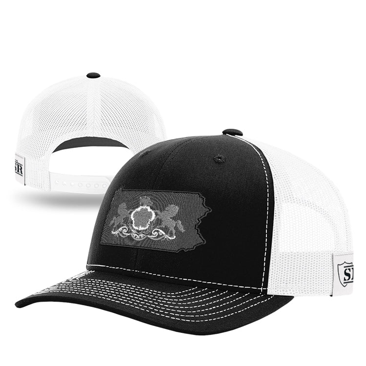 Monochrome PA State Flag Hat
