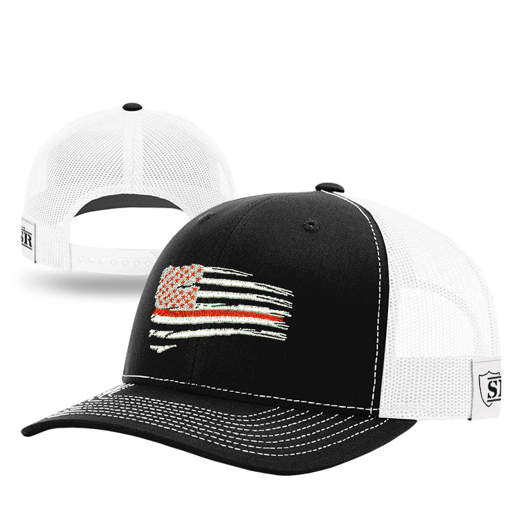 Tethered Red Line Flag Hat