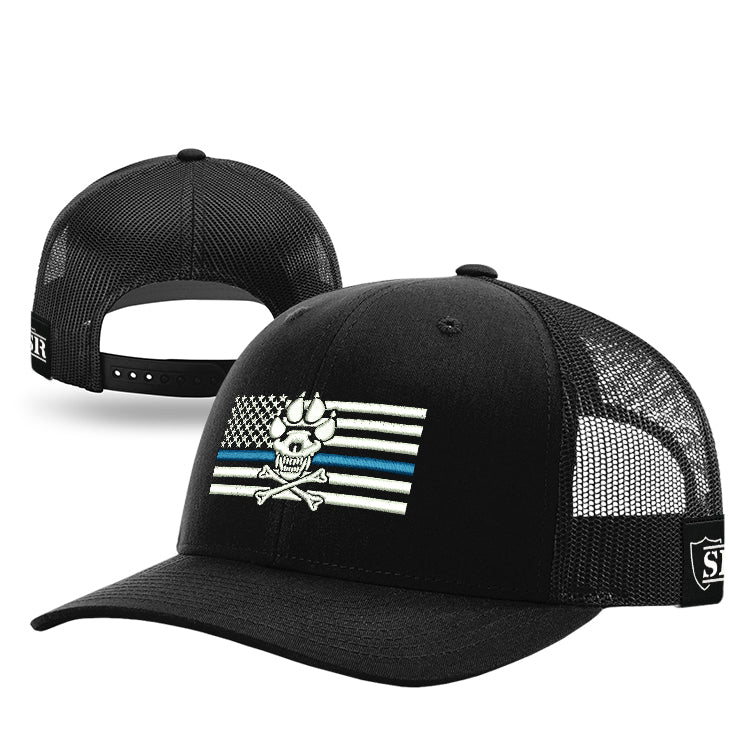 K-9 Blue Line Flag Hat