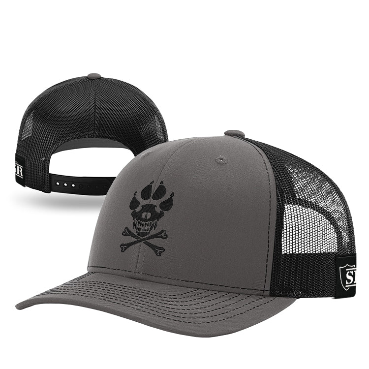 Black K-9 Crossbones Hat