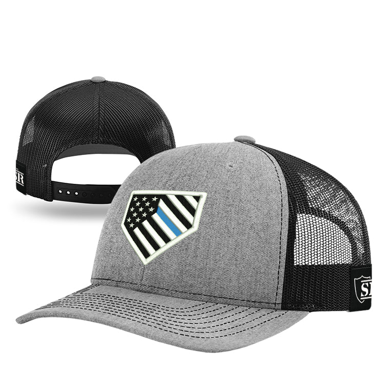Home Plate Blue Line Flag Hat