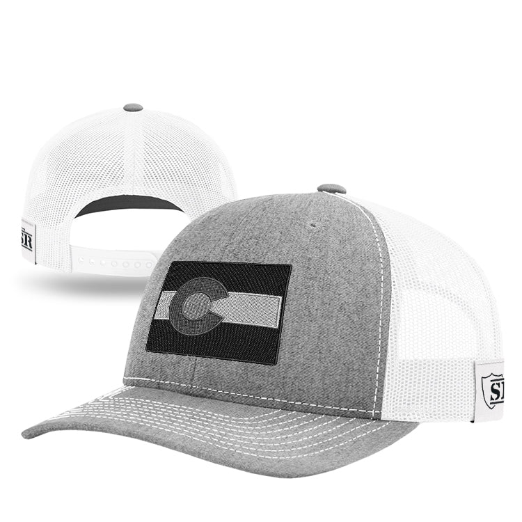 Monochrome CO State Flag Hat