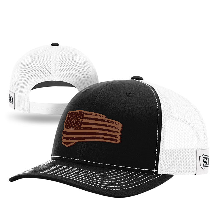 Tethered Flag Leather Patch Hat