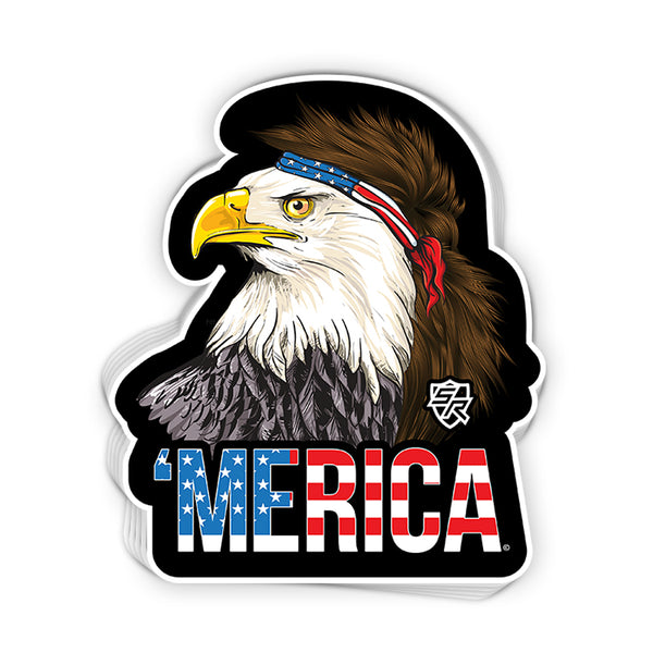 Merica Eagle Tears Decal
