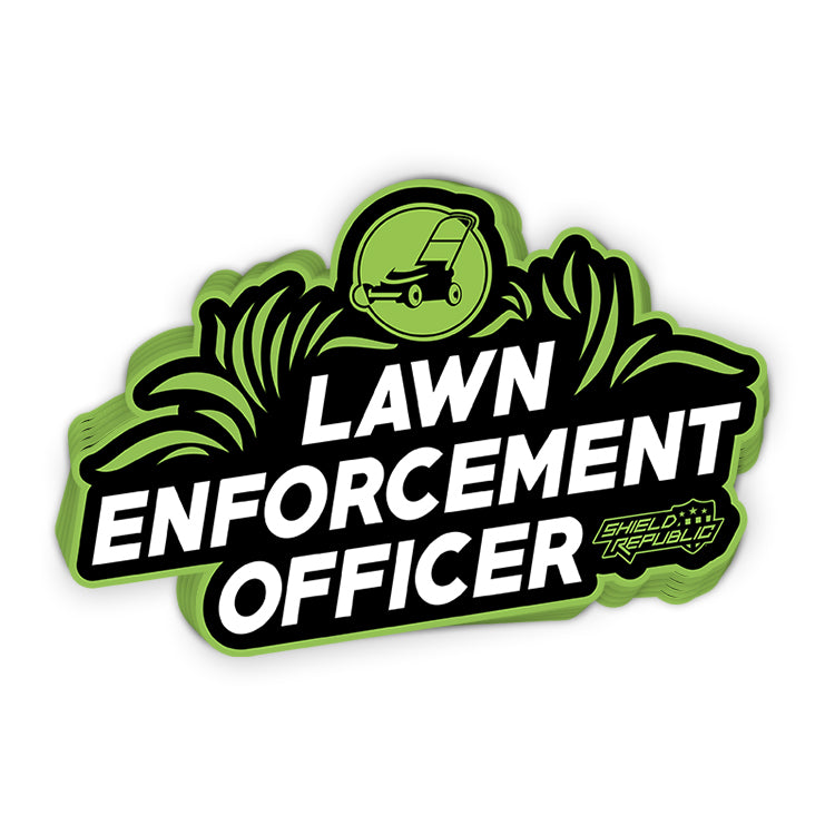 Lawn Enforcement Officer Decal