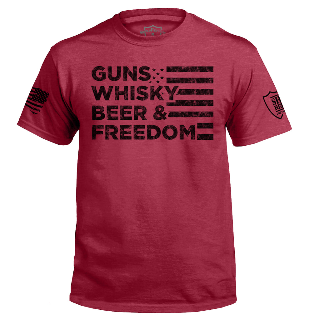 Guns Whiskey Beer and Freedom Black