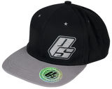 Flat Bill Hat - Black/Grey