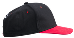 Flat Bill Hat - Black/Red