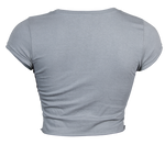 Crop Top - Heather Grey