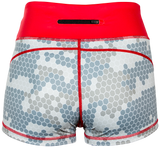 Ladies Hex Camo Compression Shorts