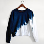 Dip Dyed Organic Cotton Cropped Sweatshirt