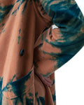 Peach Cashmere Tie Dye Waterfall Coat