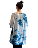 Goddess Silk Chiffon Tunic Dress in Ripples