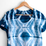 Geometric Shibori Women's Cotton T-shirt