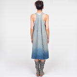 TJ Indigo Linen Pinafore Apron Dress
