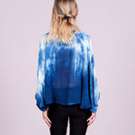 Balloon Sleeve Top In High Contrast Indigo