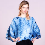 Batwing Sleeve Shibori Blouse Top