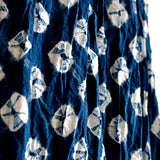 Kumo Scarf Indigo Shibori Organic Cotton Shawl with Tassels