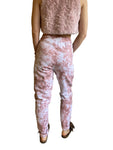 Organic Cotton Joggers in Pink Tie Dye