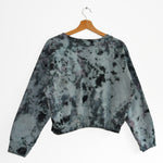 Organic Cotton Cropped Sweatshirt in Neutopia
