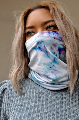 Set of Two Unisex Neck Gaiter Tie Dye Face Masks