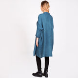 Capsule Collection Linen Haluk Duster in Indigo Wash