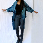Silk Rayon Long Lighweight Duster Jacket