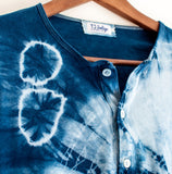 Unisex 100% Cotton Indigo Shibori Long Sleeve Shirt