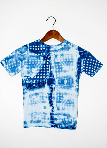 Kids Polka Dot T-Shirt Hand dyed with Natural Indigo