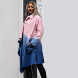 Pink Ombre Waterfall Wool Jacket