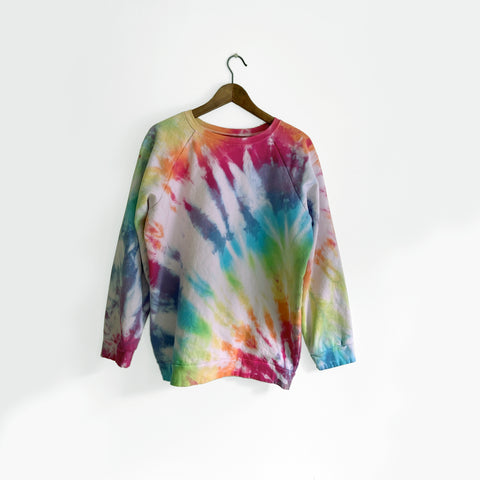 Rainbow Tie Dye Organic Cotton Sweatshirt