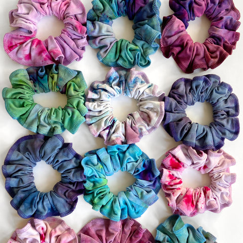 Set Of Two Oversized Tie Dye Scrunchies