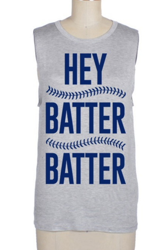 Hey Batter Batter Muscle Tee
