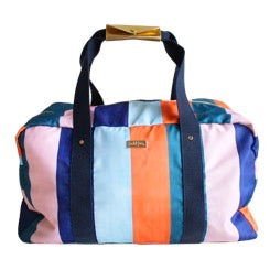 Packed Party  Striped Gym Bag