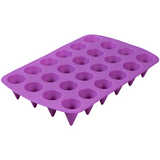 Wilton 24-Cavity Cone Shaped Bite Size Silicone Treat Mold, Purple