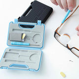 (2 Pack) Kikkerland Blue and Black Eyeglass Repair Tool Kits