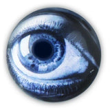 Kikkerland REALISTIC GLASS HUMAN EYE Fridge Magnets, MG44 (2 PACK - Set Of 8)