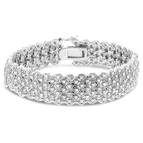 2CTW Diamond Multi Row Bracelet