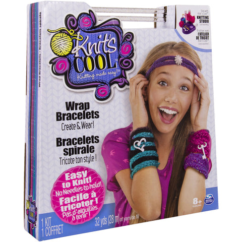 Knits Cool Bracelet Maker Craft Kit, Make 4 Wrap Bracelets