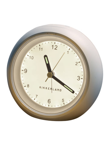 Kikkerland Relaxation Sleep Clock with Pulsing Night Light Promotes Focused Relaxation, Rechargeable Alarm Clock