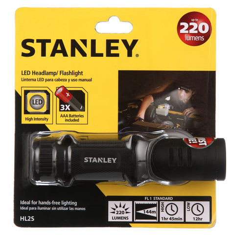 Stanley HL25 220-Lumens LED Twist Combo Headlamp/Flashlight with Pivoting Head and Adjustable Headband