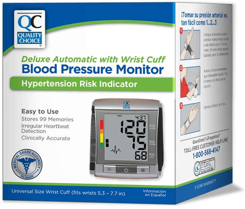 Quality Choice Deluxe Automatic Wrist Cuff Blood Pressure Monitor