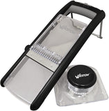 Weston Products Safe Slice Mandolin Slicer, Safety Stand Mandolin Slicer, Black
